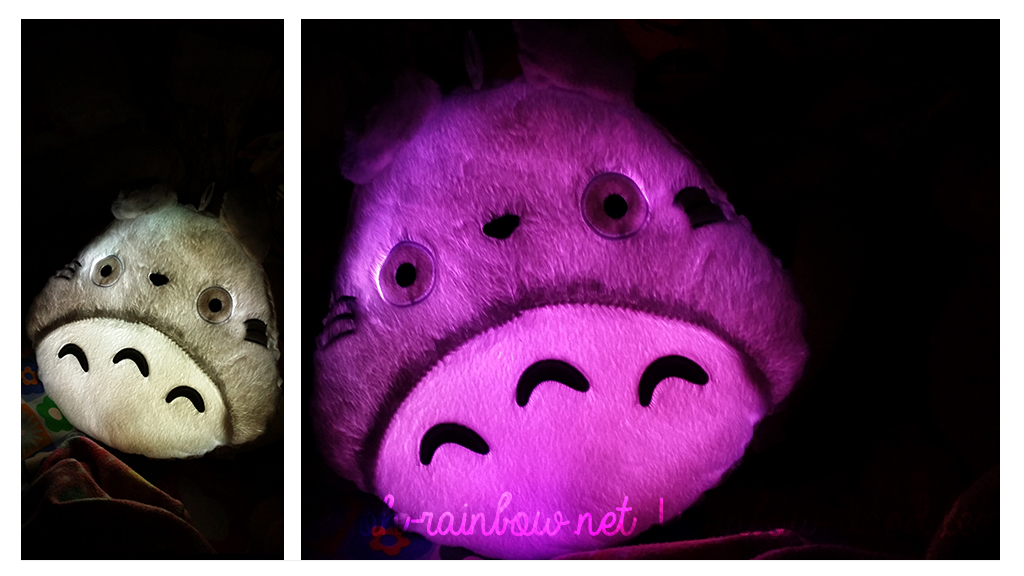 Totoro Shape LED Light Up Colorful Pillow from Tmart GLOWING!!